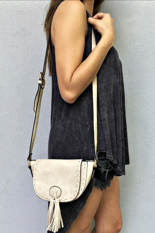 Leather Tassel Satchel