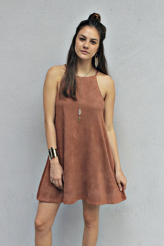 Solid Suede Sunday Dress