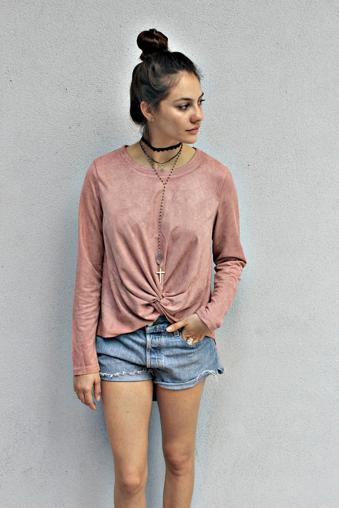 Tie The Knot Suede Top