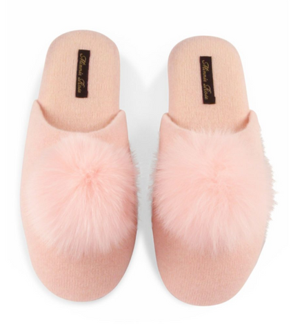 Minnie Rose Cashmere Slippers