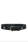 Streets Ahead - Rock and Roll Star belt in black FINAL SALE One Size Medium Left! - Lydia's World Boutique