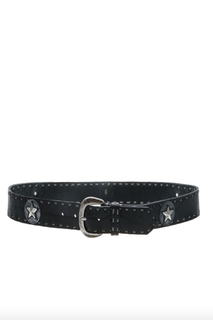 Streets Ahead - Rock and Roll Star belt in black FINAL SALE
