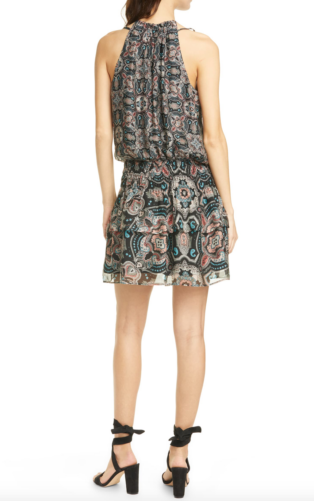 Ramy Brook - The Brady Dress in Black Combo Pring