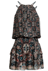 Ramy Brook - The Brady Dress in Black Combo Print 50% OFF FINAL SALE