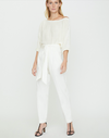Brochu Walker - The Andrei Belted Pant in Milky White