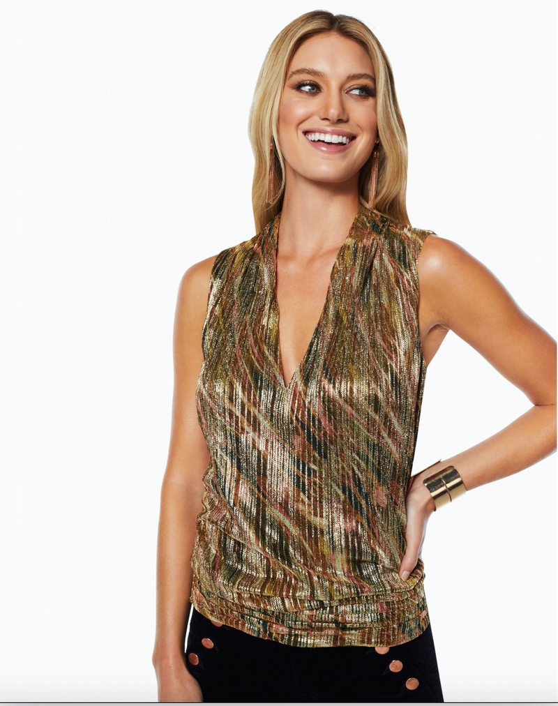 Ramy Brook - Lizzie Top in Metallic Stripe