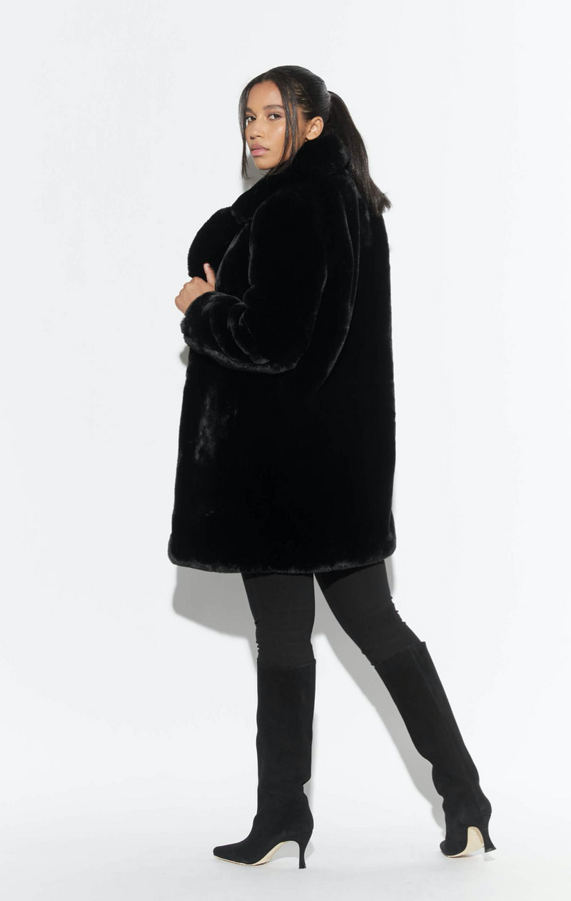 Apparis - Best Seller!  Sasha Coat in Noir