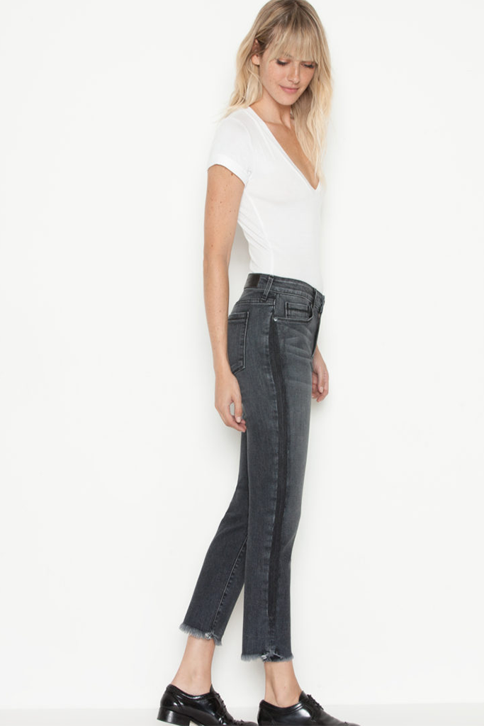 Parker Smith - Cropped Straight leg in Black Crush - Lydia's World Boutique