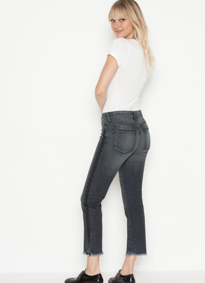 Parker Smith - Cropped Straight leg in Black Crush FINAL SALE - Lydia's World Boutique