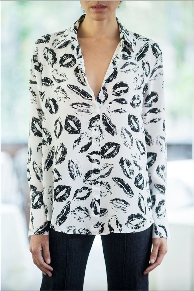 Catherine Gee - Daria Blouse in white FINAL SALE - Lydia's World Boutique