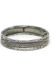 Tat2 Jewelry - Vintage Silver Velen Crystal Inlay Bangle - Lydia's World Boutique