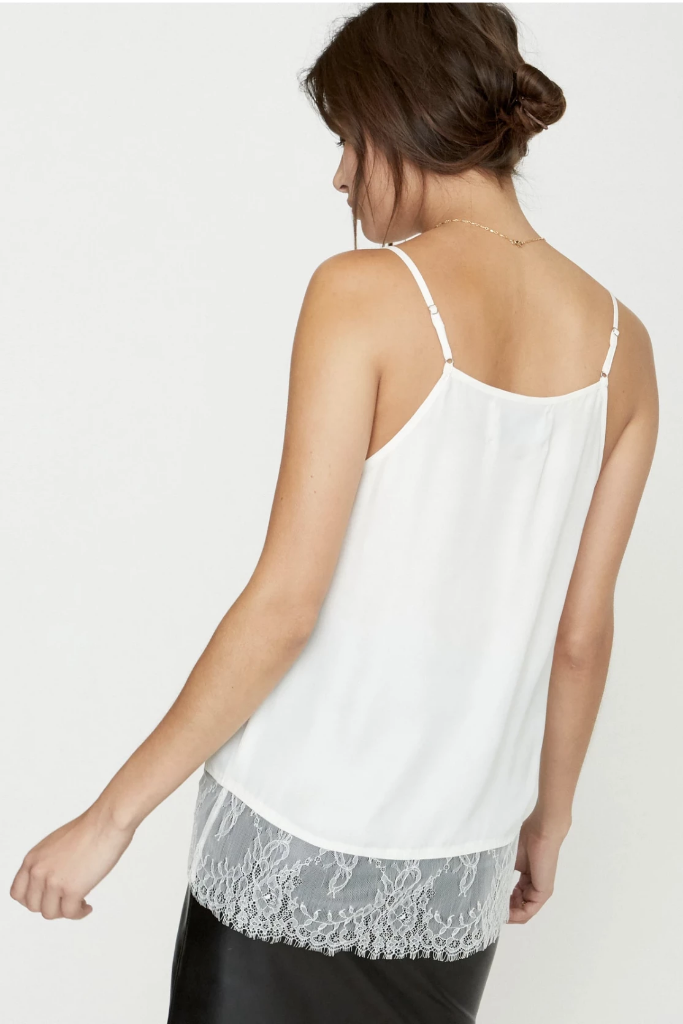 of Brochu Walker - The Lai Camisole in White - Lydia's World Boutique