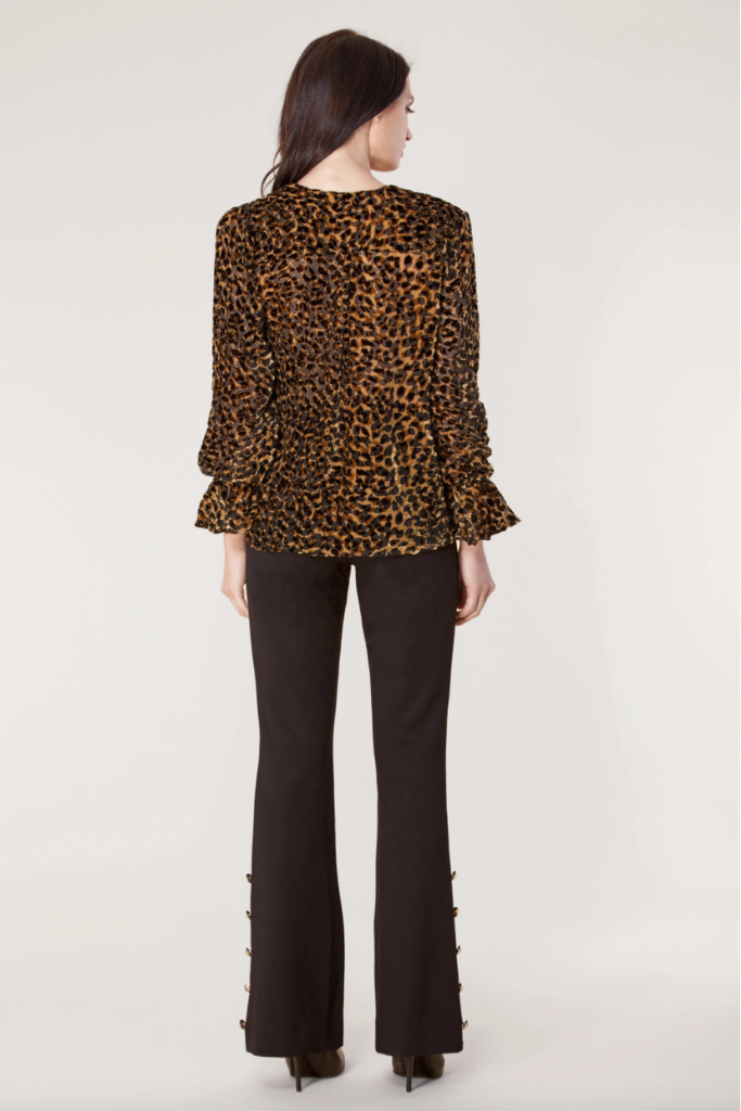 Hale Bob - Reba Silk Burnout in Leopard - Lydia's World Boutique