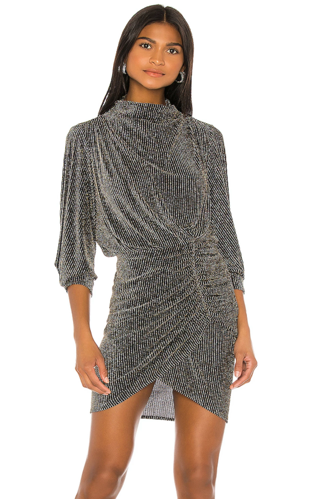 Iro - Absalon Dress in Black/Silver 50% OFF FINAL SALE