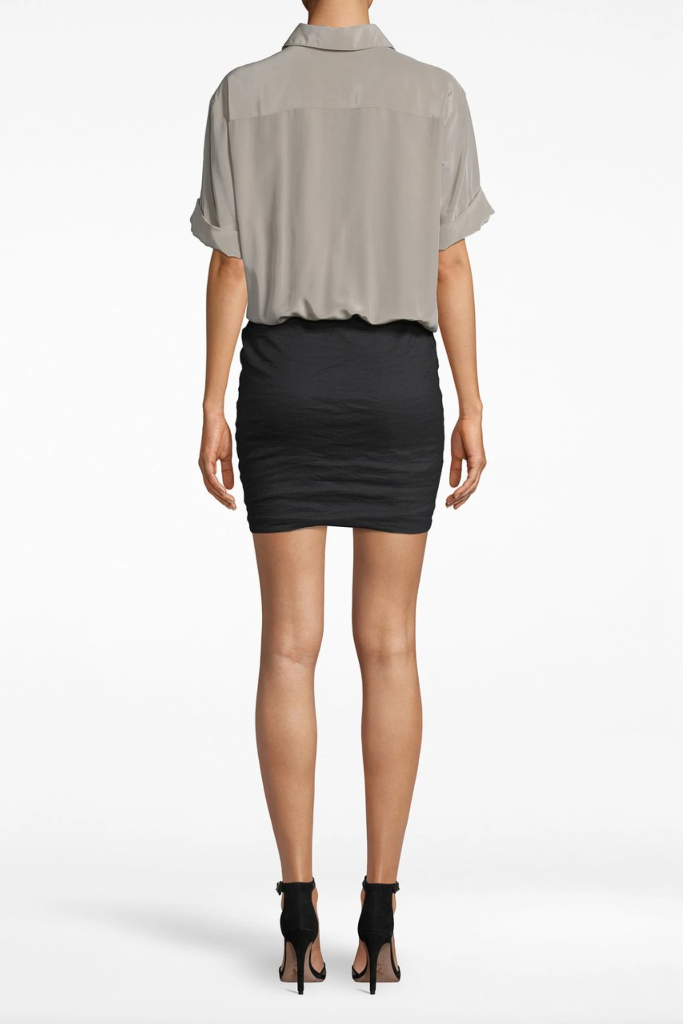 Nicole Miller - Combo Cotton Metal T- Shirt Dress 50%  OFF FINAL SALE