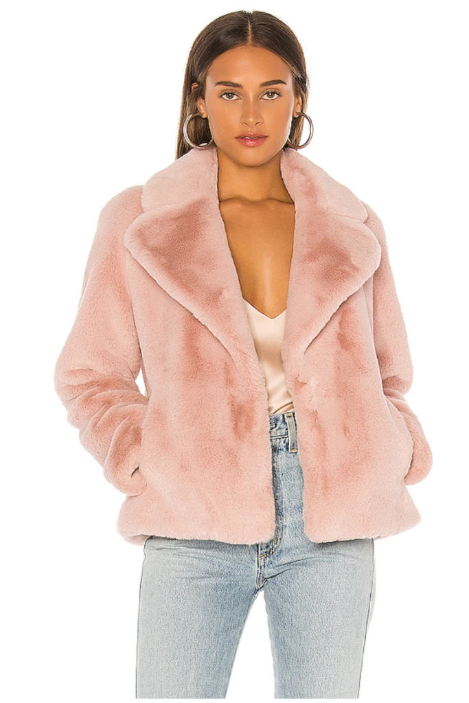 Soia & Kyo - The Emanuela in Quartz! Faux Fur jacket...50% Off FINAL SALE