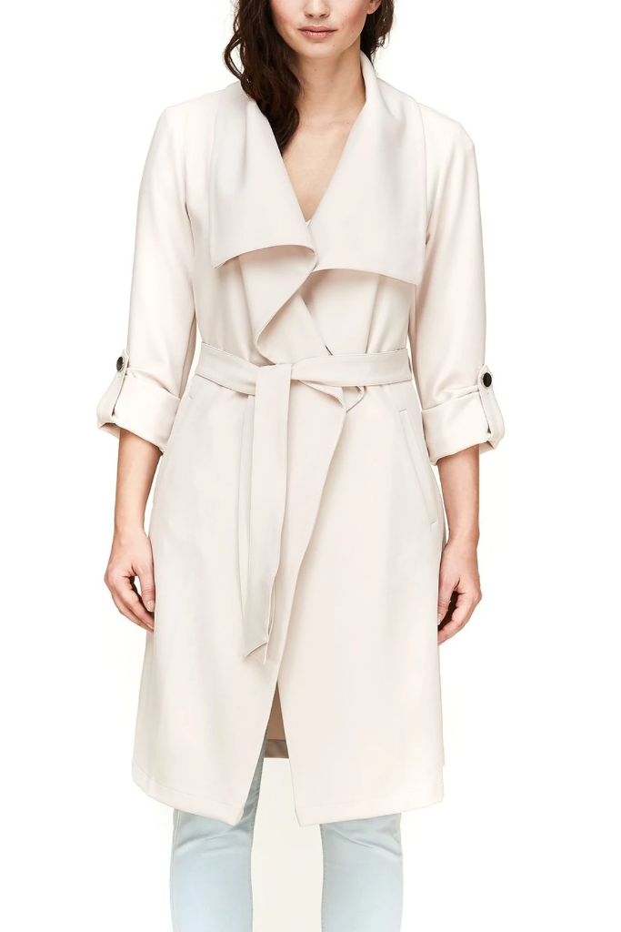 Soia & Kyo - Ornella Trench Coat in Pearl