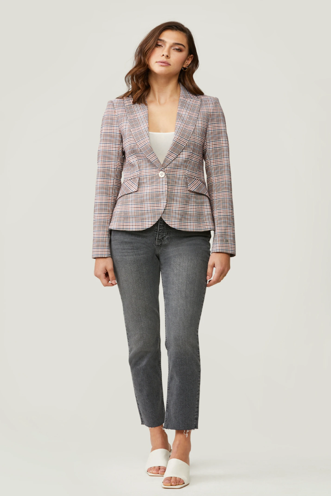 Soia & Kyo - Cassandra slim fit blazer with peplum back