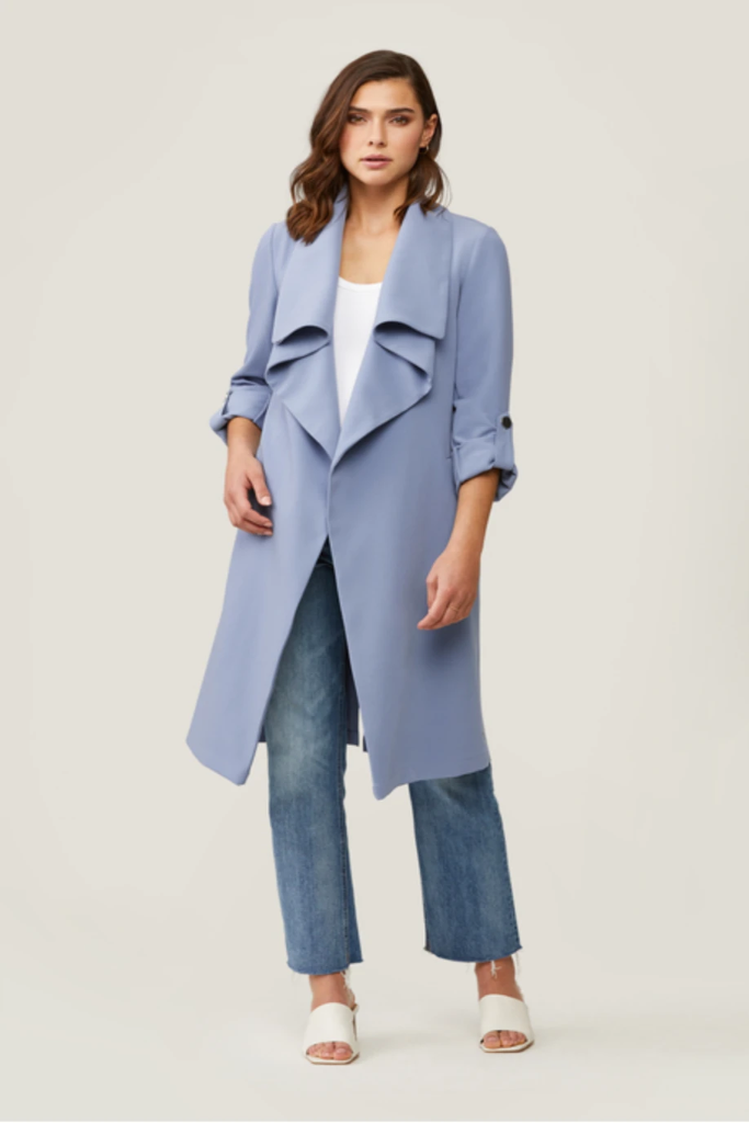 Soia & Kyo - Ornella Trench Coat in Cerulean Blue 20% Off Final Sale
