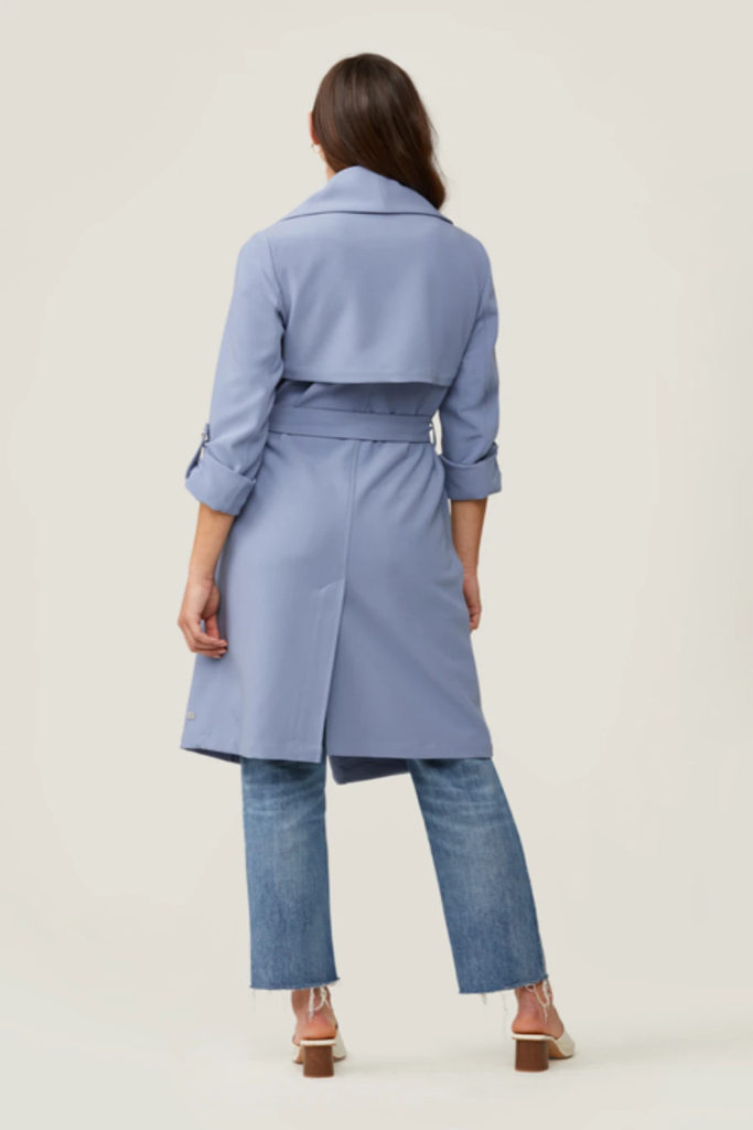 Soia & Kyo - Ornella Trench Coat in Cerulean Blue