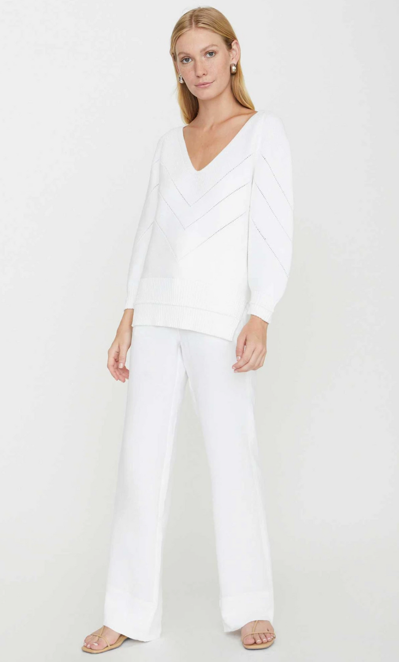 Brochu Walker - The Decker Vee in Salt White 30% Off Final Sale