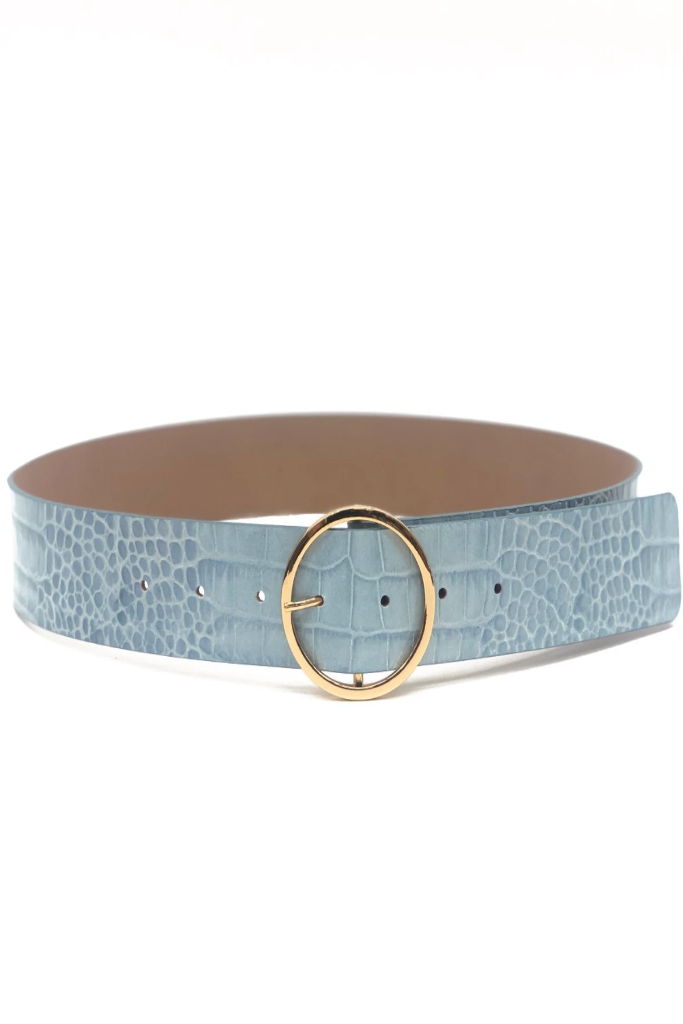 B-Low the Belt - Molly Croco in Blue