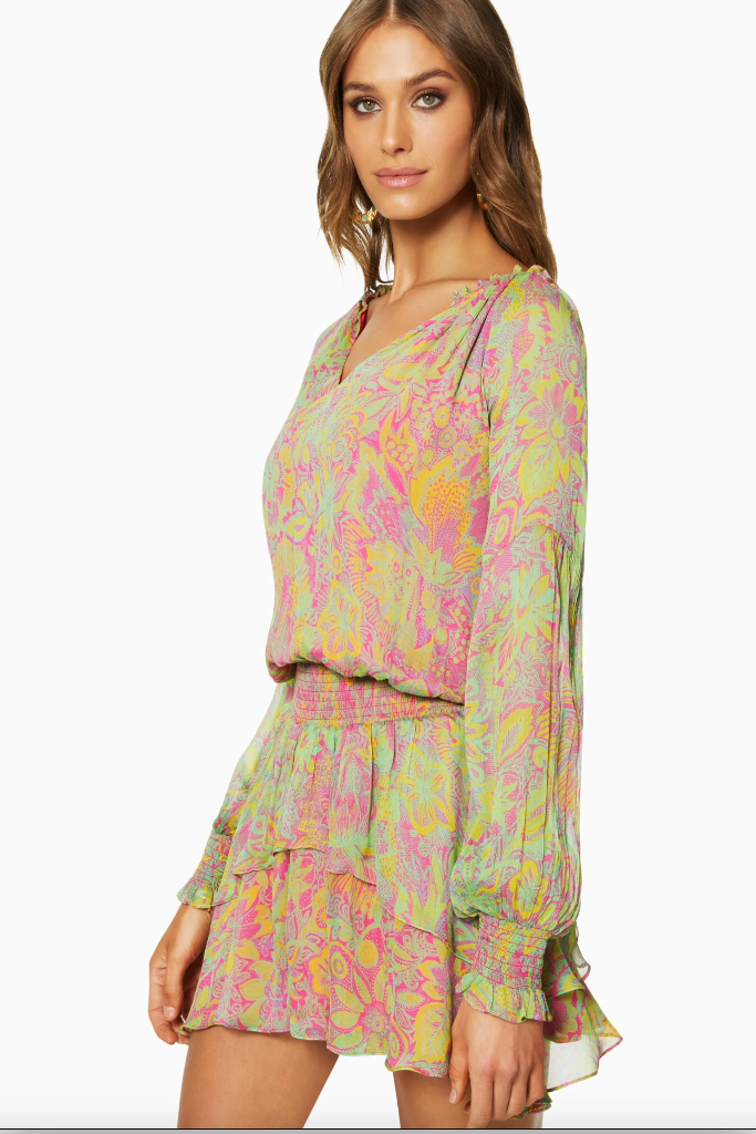Ramy Brook - Printed Rosanna Dress in Botanic Marigold more colors...