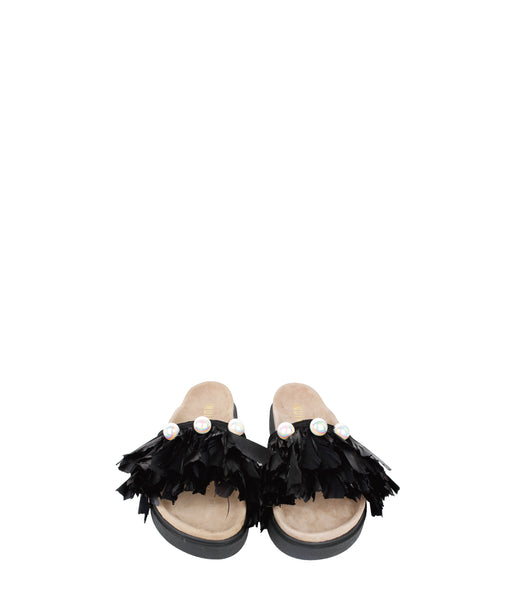 Pearl Feathers Slippers