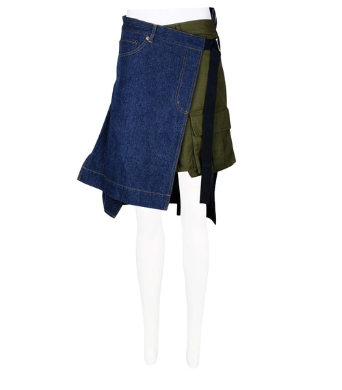 Asymmetric Patchwork Skirt