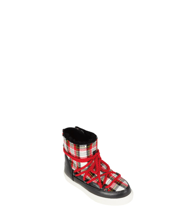 Kids Tartan Snow Sneakers