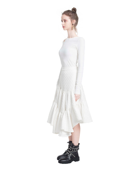 Asymmetric Tiered Skirt