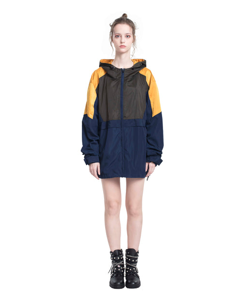 Color-block Anorak Jacket