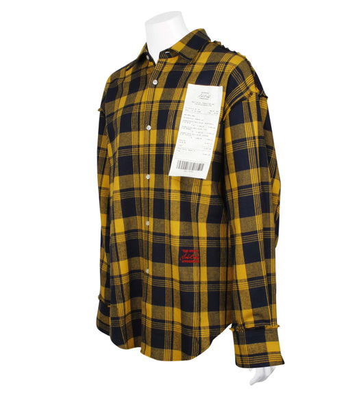 Solo Receipt Patch Checked Shirt (Unisex)