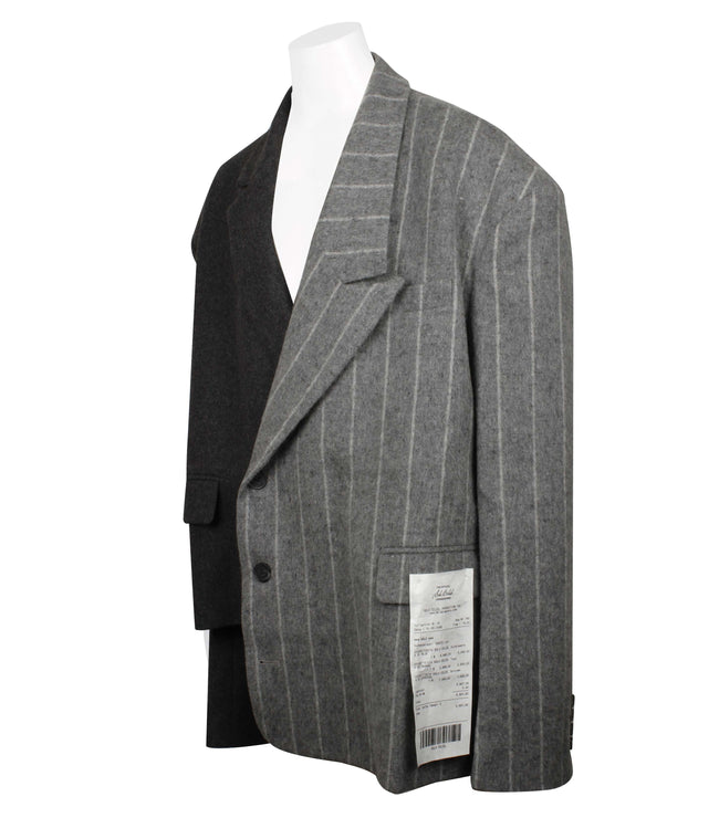 Solo Receipt Asymmetric Patch Blazer (Unisex)