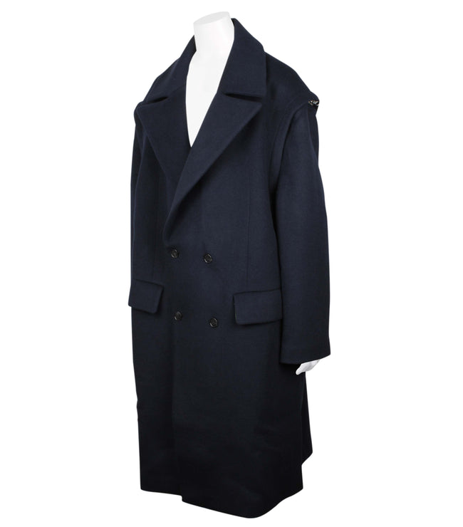 Doublebreasted Wool Long Coat (Unisex)