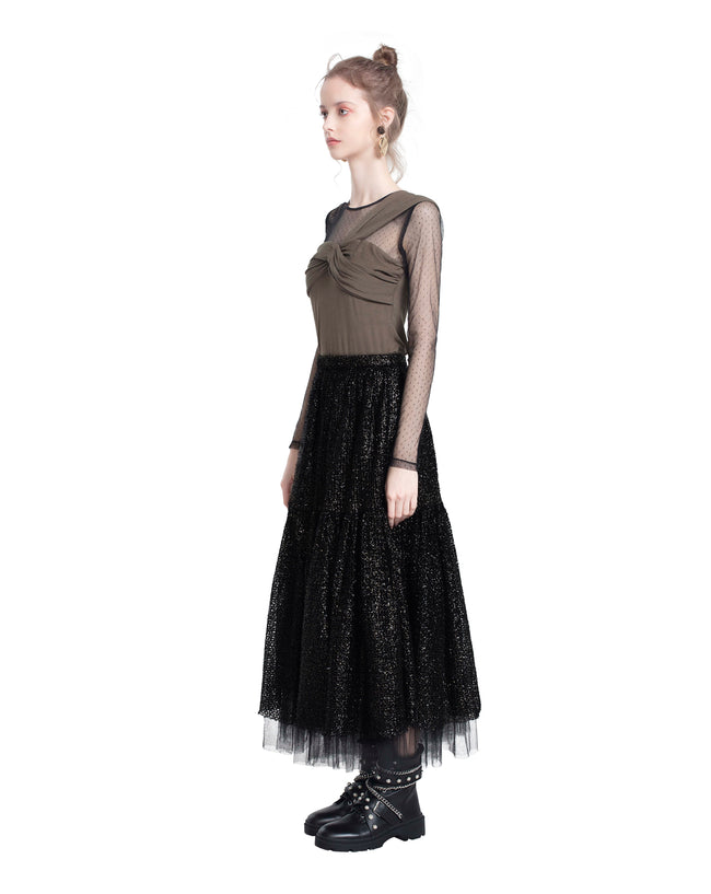 Knotted Mesh Tulle