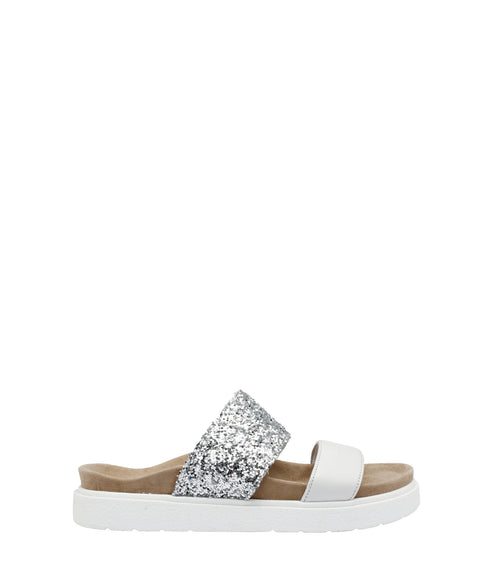 Double Band Glitter Slippers