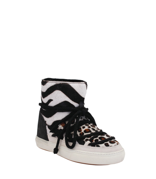 Animal Print Wedge Sneakers