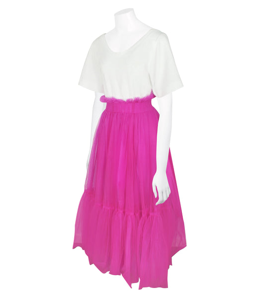 Tulle and Cotton-jersey Maxi Dress