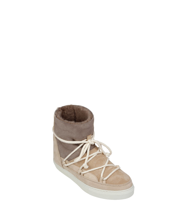 Patchwork Snow Wedge Sneakers
