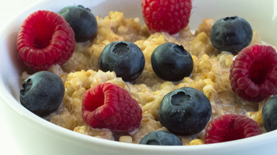 Samurai Cereal is a hot cereal with a coarse and complex texture - great with fresh berries!