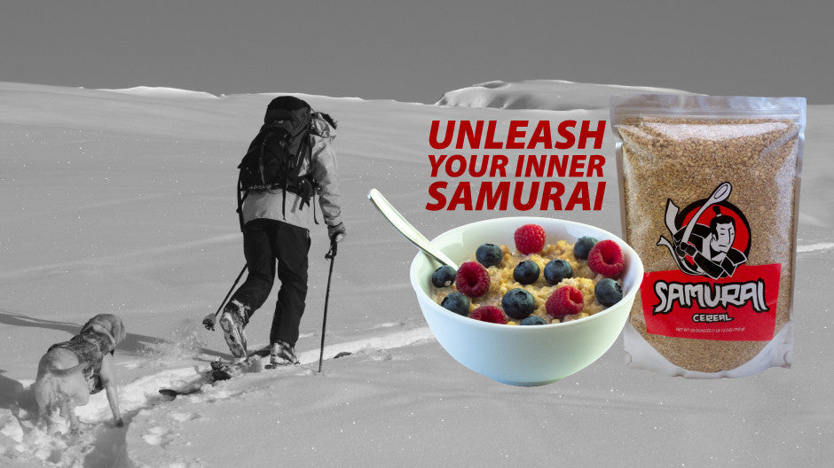 A backcountry day fueled by Samurai Cereal