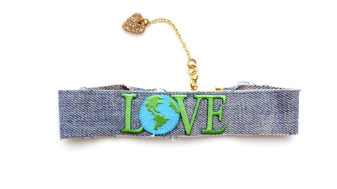 Real Love Choker Denim