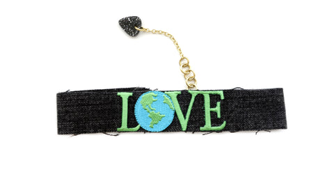 Real Love Choker Black Denim