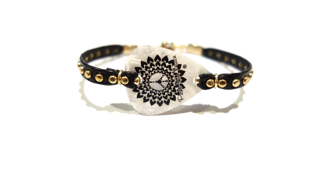 Leather Studded Bracelets- Picks For Peace