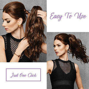 Quick & Easy Claw on Curly Ponytail-Buy 2 Free Shipping