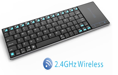 ZOWEETEK ZW-51012 Ultra-Slim SS 2.4G Wireless keyboard with touchpad