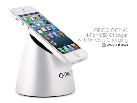 ORICO OCP-4S 4-Port USB Charger with Wireless Charging