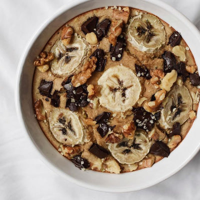 Banana Bread Baked Oats