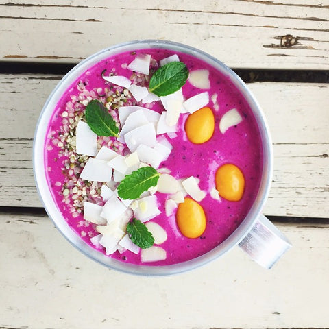 Healthy Pitaya Peach Ka'Chava Smoothie Recipe